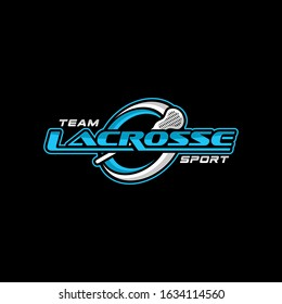 Team Lacrosse Badge Logo Template Vector Eps 10