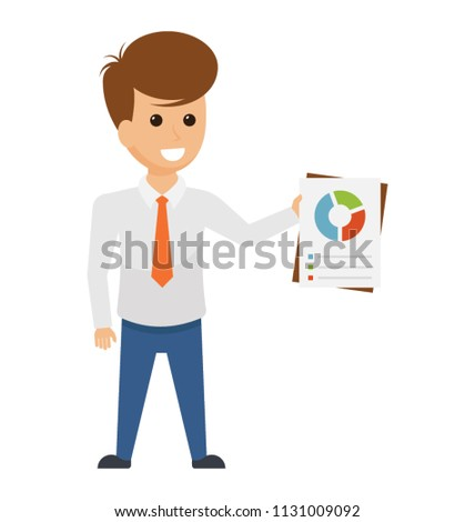 team leader avatar withholding graph chart stock vector royalty