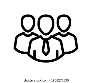 team leader group single isolated icon with outline style