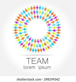 Team logo template. Social media marketing idea. Corporate symbol. Social network.The symbol of community and association.