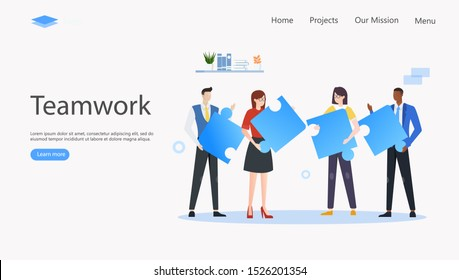 Team Metaphor Vector Illustration Concept , Suitable for web landing page, ui, mobile app, editorial design, flyer, banner, and other related occasion