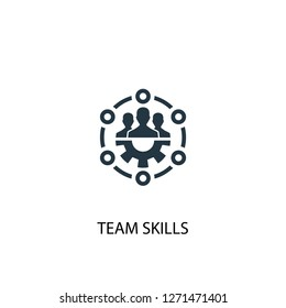 team skills icon. Simple element illustration. team skills concept symbol design. Can be used for web and mobile.