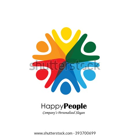 Team Teamwork Excited Employees Motivated People Stock Vector