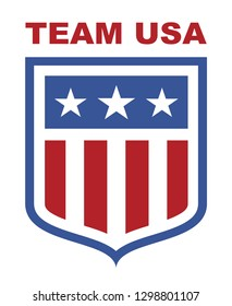 Team USA shield, with stars and stripes