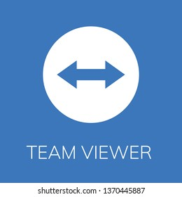 Team viewer icon. Editable  Team viewer icon for web or mobile.
