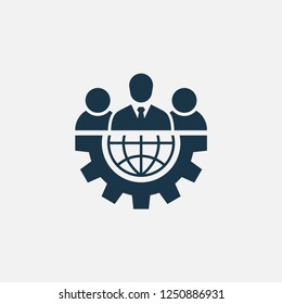 Team work icon. Simple office illustration element. Vector symbol design from business collection. Can be used in web and mobile.