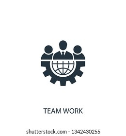 Team work icon. Simple office illustration element. Vector symbol design from bussiness collection. Can be used in web and mobile.