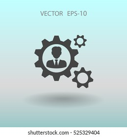 Team work icon. vector illustration