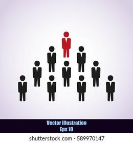 Team work icon.Vector illustration. Flat design.