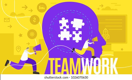 Team work illustration vector illustration