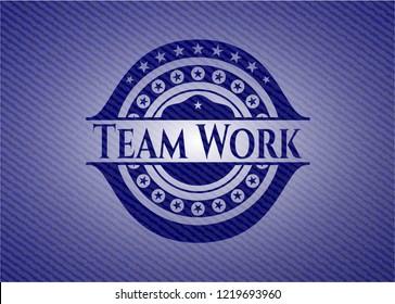Team Work jean background