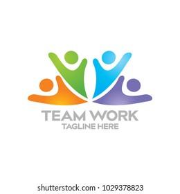 Team Work Logo Icon Vector