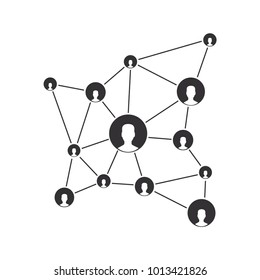 Teamwork Blockchain Vector Icon