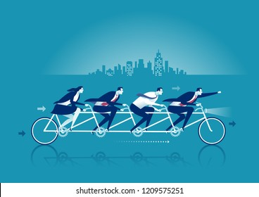 Teamwork. Business concept vector illustration