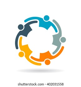 Teamwork Collaboration People Group Logo. Vector graphic