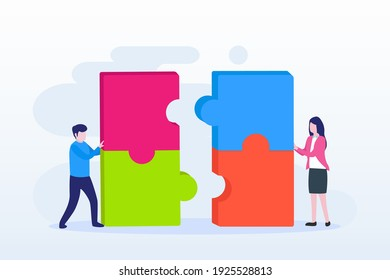 Teamwork collaboration winning Vector Illustration. Flat vector template Style Suitable for Web Landing Page, Background.