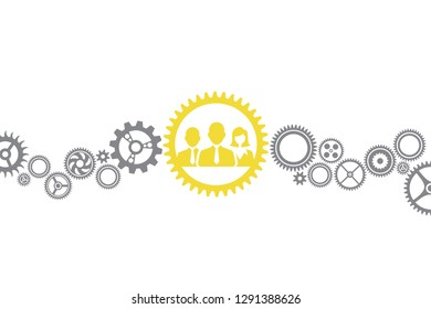 Teamwork Concepts with Business Person