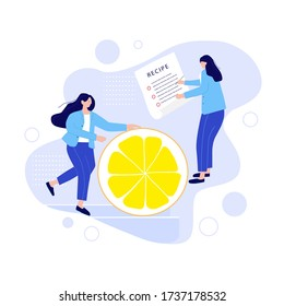 Teamwork, cooperation, partnership concept. Waiters, group colleagues wear the uniform, working process. Team metaphor. Fun, trendy cartoon serving person. Flat vector illustration, isolated objects.