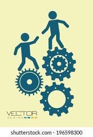 Teamwork design over beige background, vector illustration
