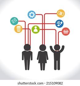 Teamwork design over white background, vector illustration