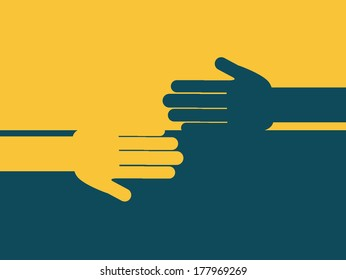 teamwork design over  yellow and blue  background vector illustration