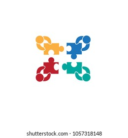 Teamwork icon isolated on white background. Teamwork icon for web site,app and logo. Creative business concept,vector illustration eps 10