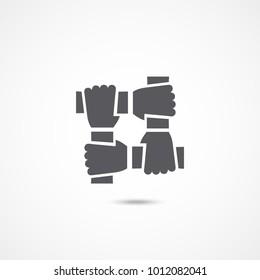 Teamwork icon on white