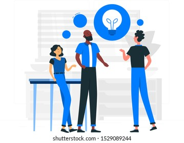 Teamwork with idea together simple