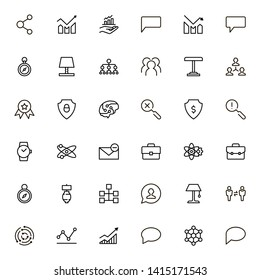 Teamwork line icon set. Collection of high quality black outline logo for web site design and mobile apps. Vector illustration on a white background