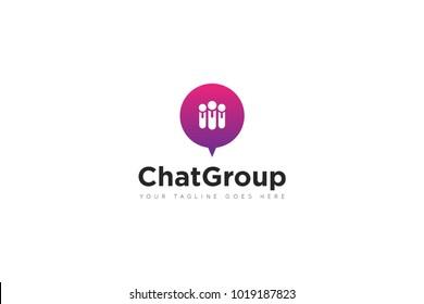 teamwork logo, group chat. chat Logo Vector design Template. Vector Illustrator Eps.10