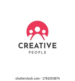 Teamwork Logo Premium Minimal emblem design template Symbol for Agency