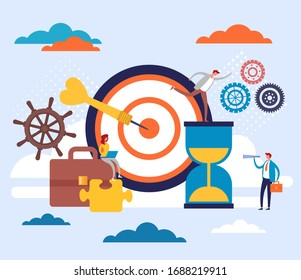 Teamwork office workers business concept. Vector flat graphic design cartoon illustration