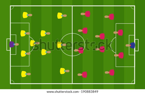 Teamwork Strategy Football Positions Stock Vector Royalty Free