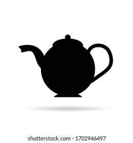 teapot black vector illustration silhouette