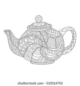 Teapot Coloring Pages Stock Vectors Images Vector Art Shutterstock
