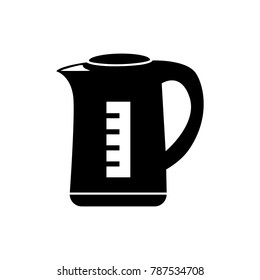 Teapot or electric kettle. Isolated on white. Household appliances. Electronic device. Home appliances. Tea kettle for boiling water icon sign. Vector illustration in flat style design