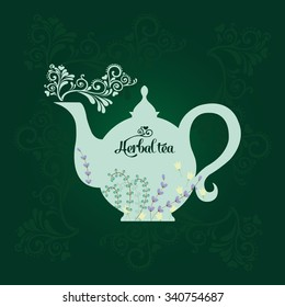 Teapot with herbs