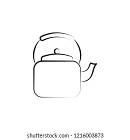 Teapot icon. Element of tea icon for mobile concept and web apps. Hand drawn Teapot icon can be used for web and mobile