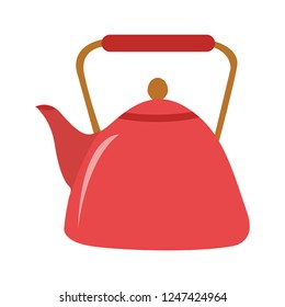teapot icon. Flat illustration of vector kettle. tea isolated on white background. drinks sign symbol