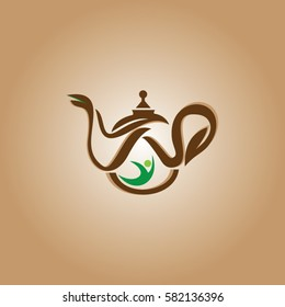 teapot icon logo coffee