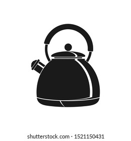 Teapot icon silhouette isolated on a white background.. Vector flat icon.