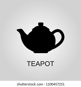 Teapot icon. Teapot symbol. Flat design. Stock - Vector illustration