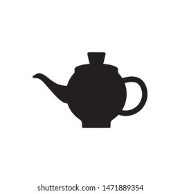 Teapot icon vector. Simple design on white background.