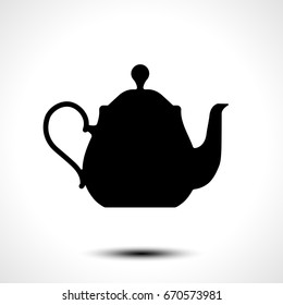 Teapot , kettle, tea kettle vector icon
