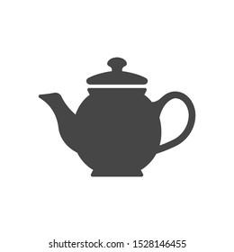 Teapot silhouette illustration icon isolated on white background.