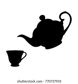 silhouette of a teacup images stock photos amp vectors