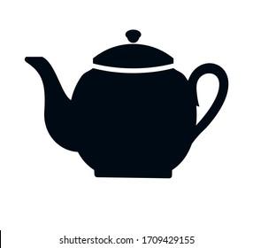Teapot vector icon black vector