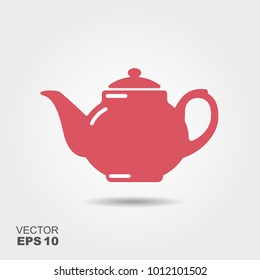 Teapot vector icon, tea symbol. Flat illustration