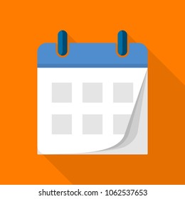Tear off calendar icon. Flat illustration of tear off calendar vector icon for web