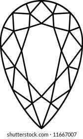 a tear-drop shaped diamond stone